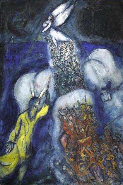 Marc Chagall. Traversée de la Mer Rouge - ▷ Phil info